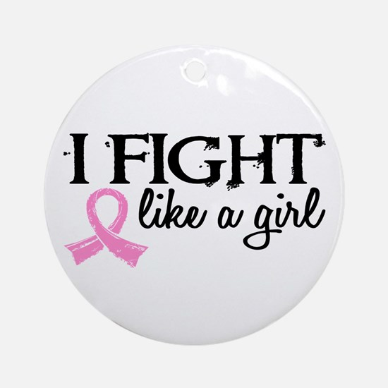 Licensed Fight Like a Girl 18.7 Ornament (Round)