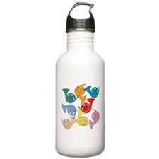 Colorful French Horns Water Bottle