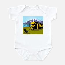 Fly fisherman fishing Infant Bodysuit