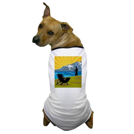 Fly fisherman fishing Dog T-Shirt
