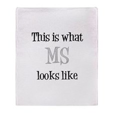 This is what MS looks like Throw Blanket