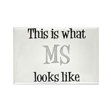 This is what MS looks like Rectangle Magnet