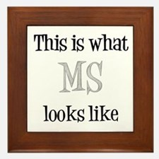 This is what MS looks like Framed Tile