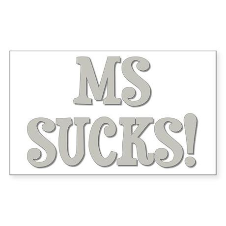 MS Sucks! Sticker (Rectangle)