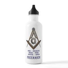Masonic Ask Seek Knock Water Bottle