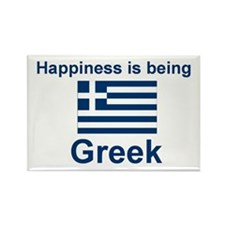 "Greek Happiness Magnet (3""x2"")"