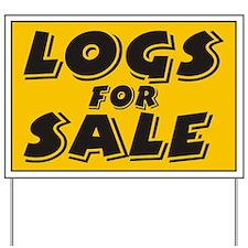 Logs Sale Yard Sign