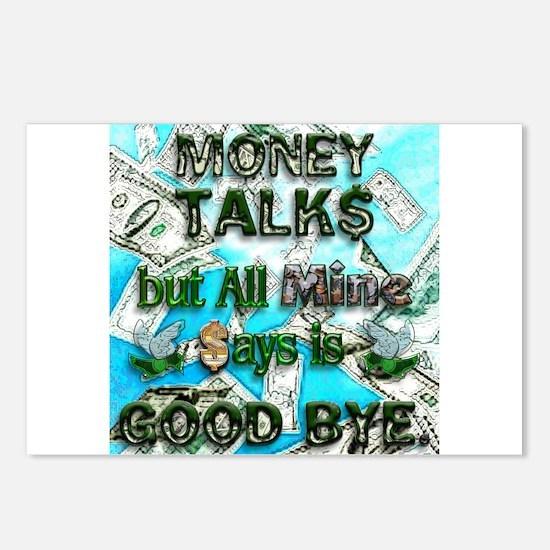 Money Talks, Mine Says Bye Postcards (Package of 8