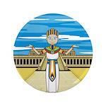 "Egyptian Pharaoh King 3.5"" Button (100 pack)"