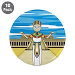 "Egyptian Pharaoh King 3.5"" Button (10 pack)"