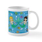 Cute Mermaids and Tropical Fish Coffee Mug