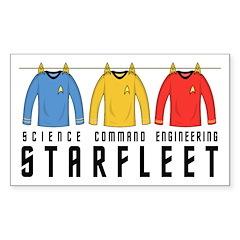 Starfleet Uniforms Sticker (Rectangle)