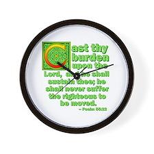 Cast Thy Burden Wall Clock