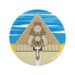 "Egyptian Pharaoh King 3.5"" Button"