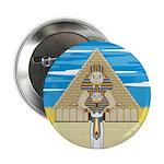 "Egyptian Pharaoh King 2.25"" Button"