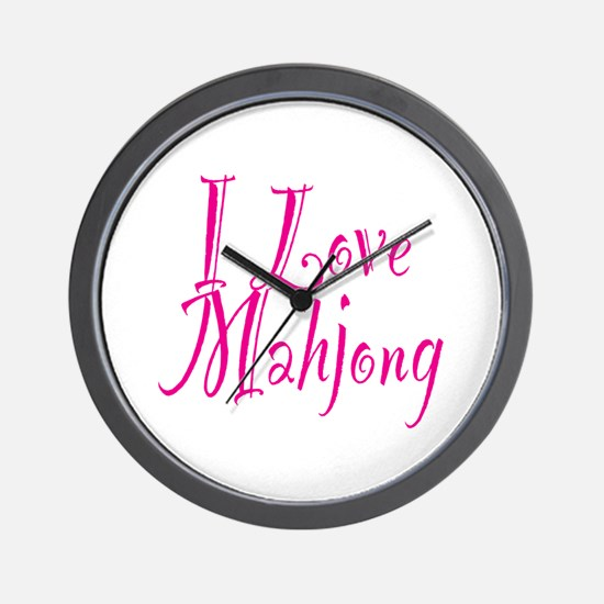 I Love Mahjong Wall Clock