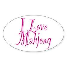 I Love Mahjong Decal