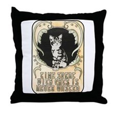 Time spent with cats is never wasted Throw Pillow