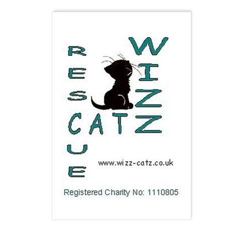 Wizz Catz Rescue Logo Postcards (Package of 8)