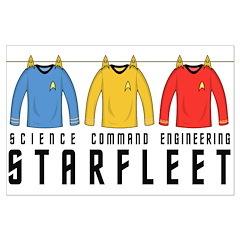 Starfleet Uniforms Large Poster