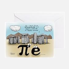Pi at Stonehenge Greeting Card