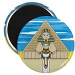"""Egyptian Pharaoh King 2.25"""" Magnet (10 pack)"""
