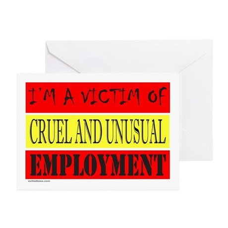 JOB/EMPLOYMENT/CAREER Greeting Cards (Pk of 10)