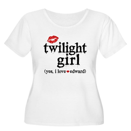 Twilight Girl Lips Women's Plus Size Scoop Neck T-