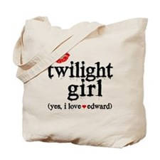 Twilight Girl Lips Tote Bag