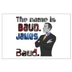 The Name's James Baud Large Poster