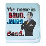 The Name's James Baud baby blanket