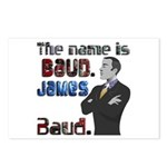 The Name's James Baud Postcards (Package of 8)