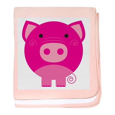 Pink Pig baby blanket