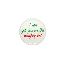 Naughty List Mini Button (100 pack)