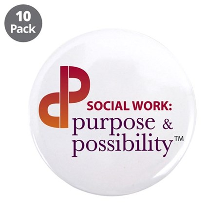 """Purpose and Possibility 3.5"""" Button (10 pack)"""