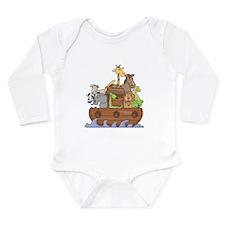 Noah's Ark Long Sleeve Infant Bodysuit