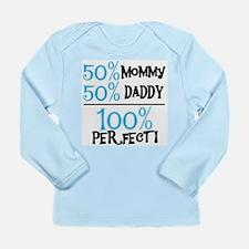 Blue 100 Percent Perfect Long Sleeve Infant T-Shir