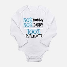 Blue 100 Percent Perfect Long Sleeve Infant Bodysu