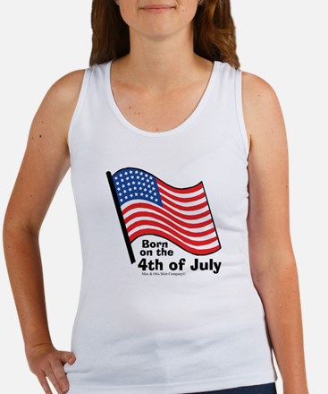 Born on the 4th of July Women's Tank Top