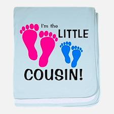 Little Cousin Baby Footprints baby blanket