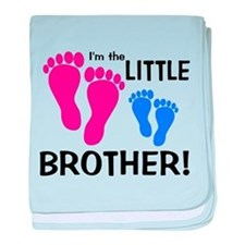 Little Brother Baby Footprint baby blanket