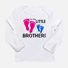 Little Brother Baby Footprint Long Sleeve Infant T