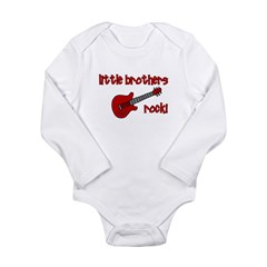 Little Brothers Rock! red gui Long Sleeve Infant B