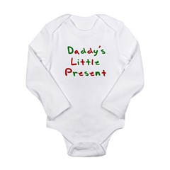 Daddy's Little Present Long Sleeve Infant Bodysuit