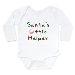 Santa's Little Helper Long Sleeve Infant Bodysuit