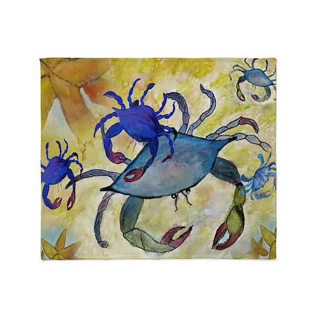 Sandy Crab Throw Blanket from artwork