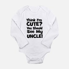 Think I'm Cute? Uncle - Black Baby Outfits