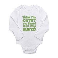 Think I'm Cute? AuntS! (PLURA Baby Outfits