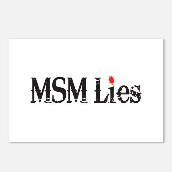 Main Stream Media Lies Postcards (Package of 8)