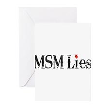 Main Stream Media Lies Greeting Cards (Pk of 10)
